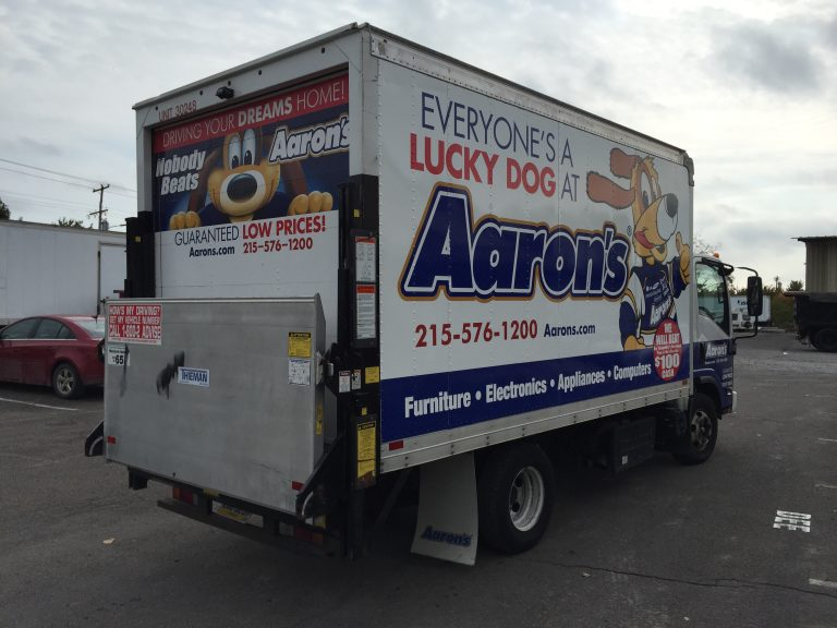 truck that is wrapped
